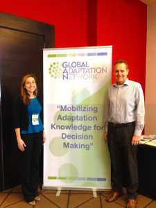 Laurel Hunt and Jeremy Pal at the Global Adaptation network in Panama.