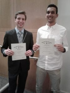 TriBeta students winners 225x300 - Seaver Students Win Awards at Tri Beta Conference