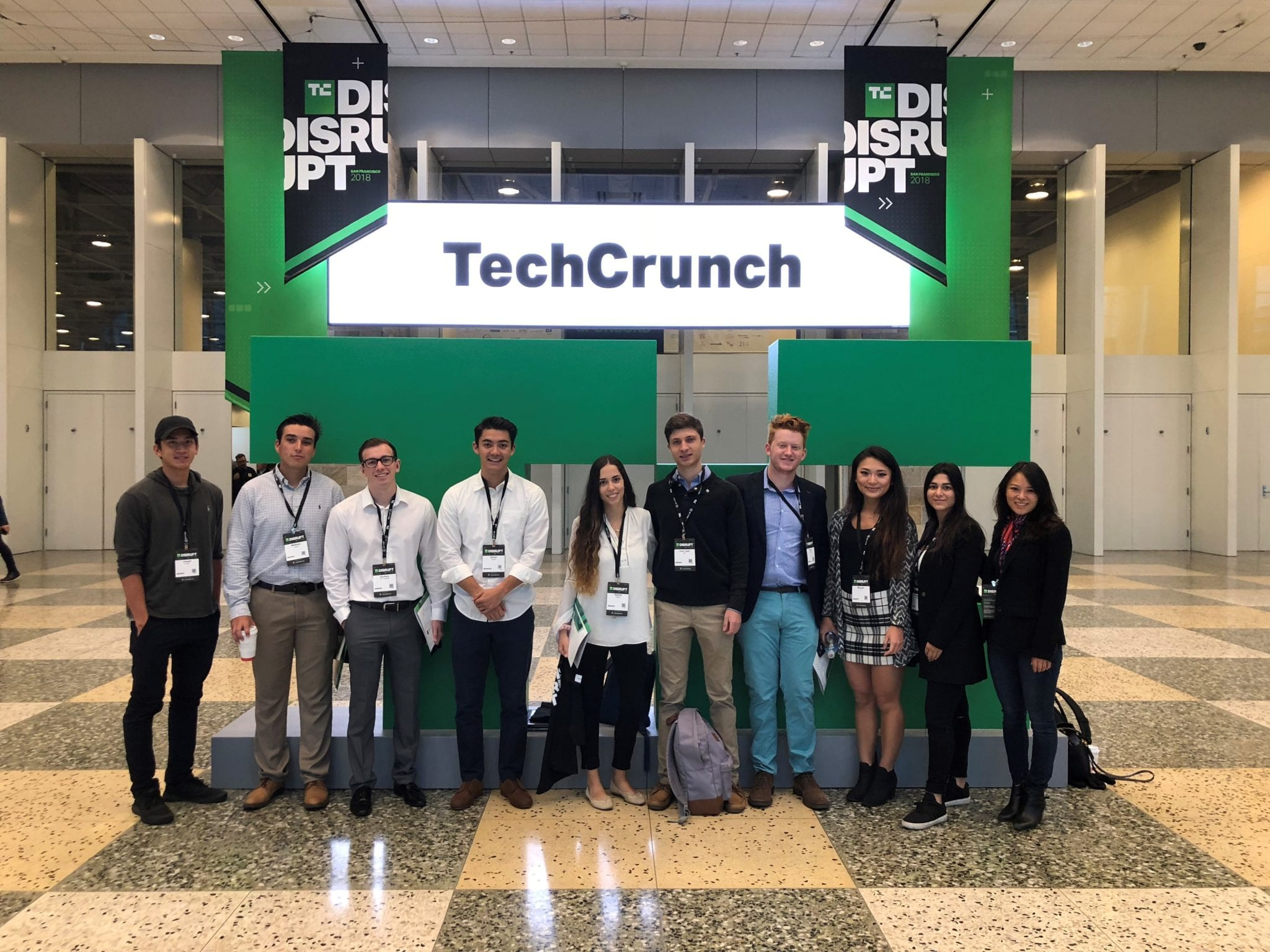 LMU's delegation at TechCrunch