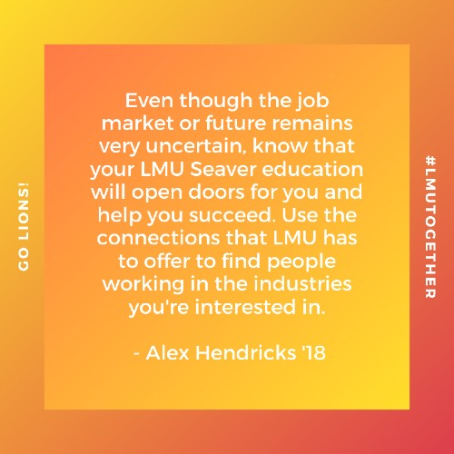 AlumAdvice  Alex Hendricks 2 500x500 - Alum Advice During COVID-19: Alex Hendricks '18