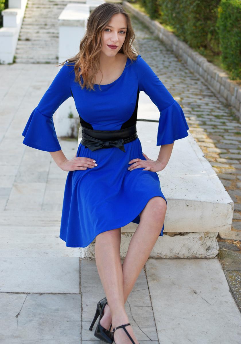 FIT&FLARE ROYAL BLUE DRESS