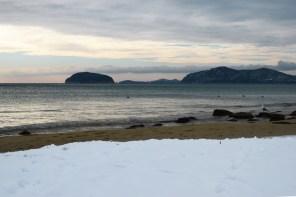 Снег на пляже, Пальо Кавала, Греция