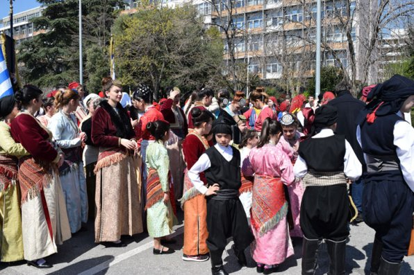 Parade on 25 March in Kavala, National Independence Day of Greece