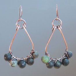 gemstone bead earrings