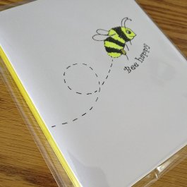 Set of 4 Bee Happy cards