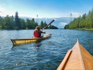 First time paddling the kayak!