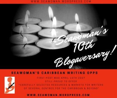 Seawoman's 10th Blogaversary! - 1st Post April 10th 2007. www.seawoman.wordpress.com