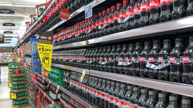 Rayon de sodas dans un supermarché américain - img_1771