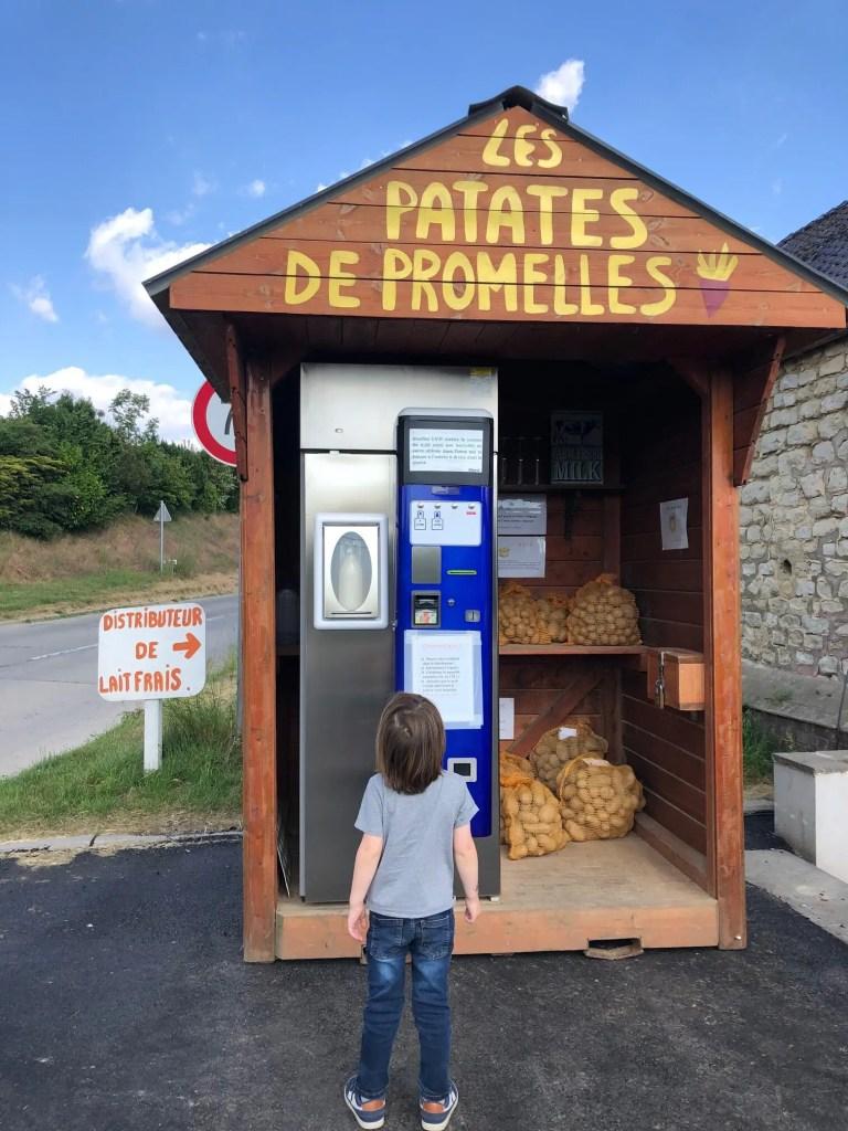 microaventure belgique distributeur de lait ferme de la vallée