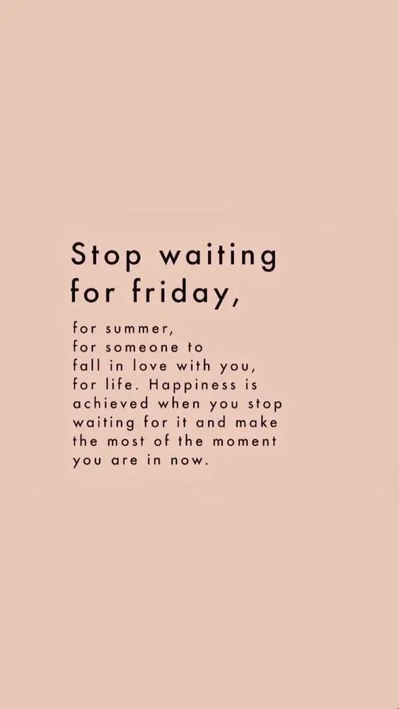 il faut arrêter d'attendre