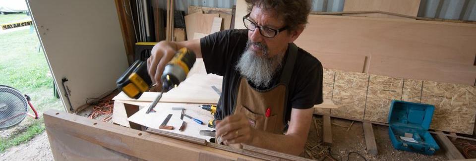 Jim working