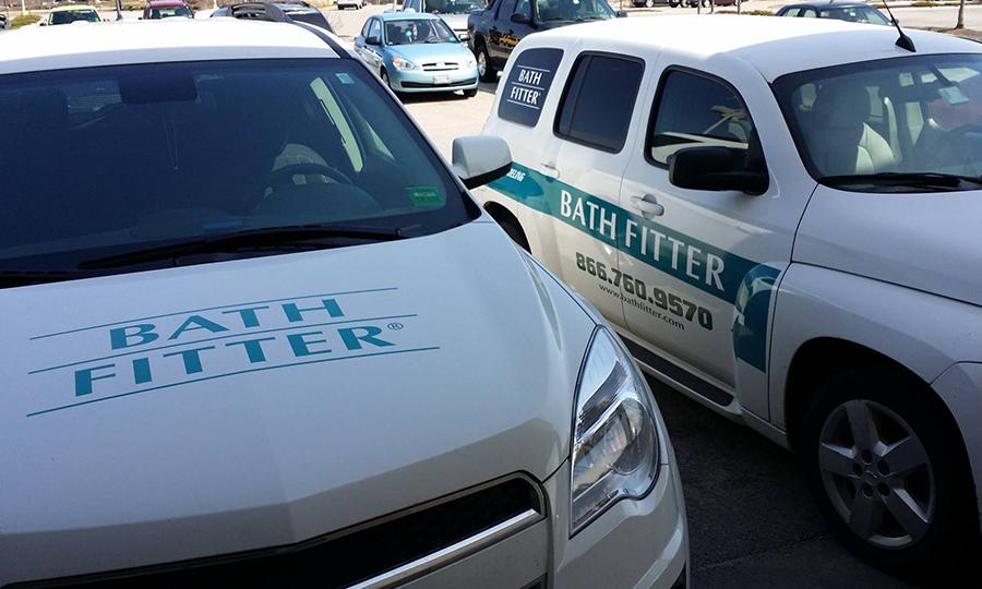 Sebago Signworks Bath Fitter fleet wrap
