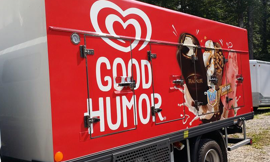 Good Humor freezer truck car wrap