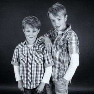 Schoolfoto in zwart wit