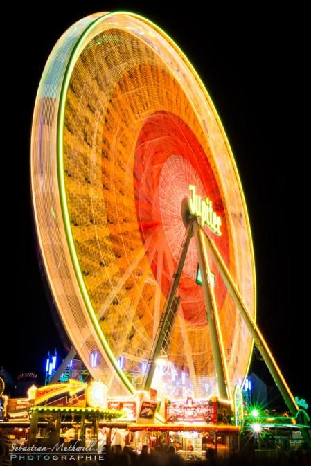 Bild vom Riesenrad - Nachtfotografie Wurstmarkt 2014
