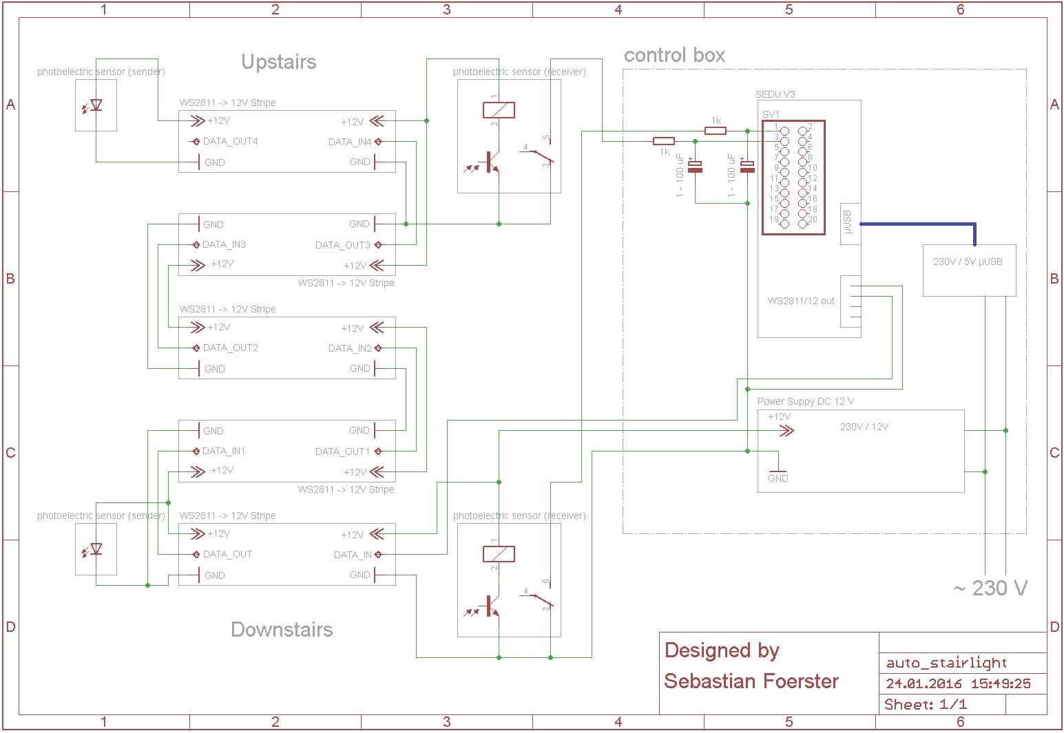 Treppenstufenbeleuchtung Aufbau