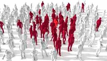 Covid-19 spreading asymptomatically in a crowd