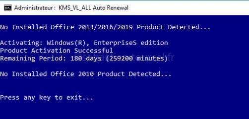Activer Windows 10 et Office 2016 KMS Activator partie 2/2
