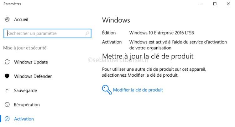 Activer Windows 10 et Office 2016 - Windows 10 Activé