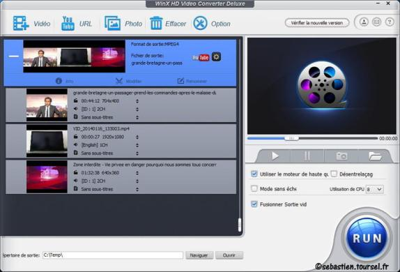 Compresser une video WinX HD Video Converter