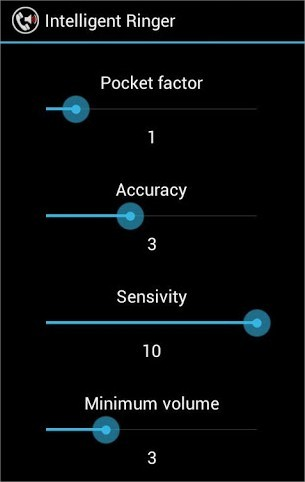 Intelligent Ringer Settings