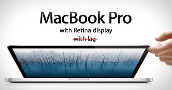 Lag sur Macbook Pro Retina display
