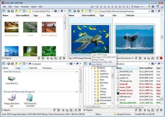 Les meilleurs logiciels 2013 Bureautique - Q-Dir
