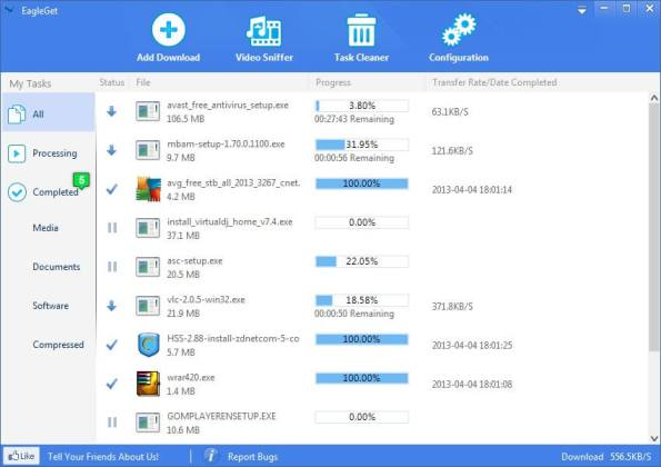 Les meilleurs logiciels 2013 Internet - EagleGet