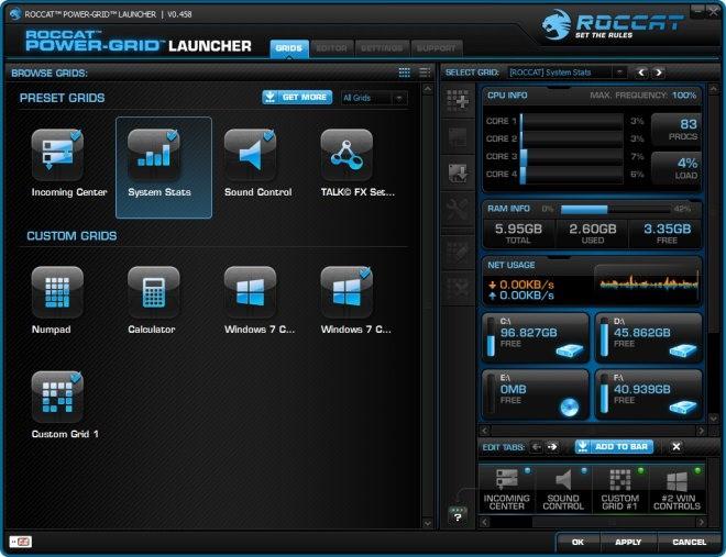 Les meilleurs logiciels 2013 Reseau - Roccat Power Grid