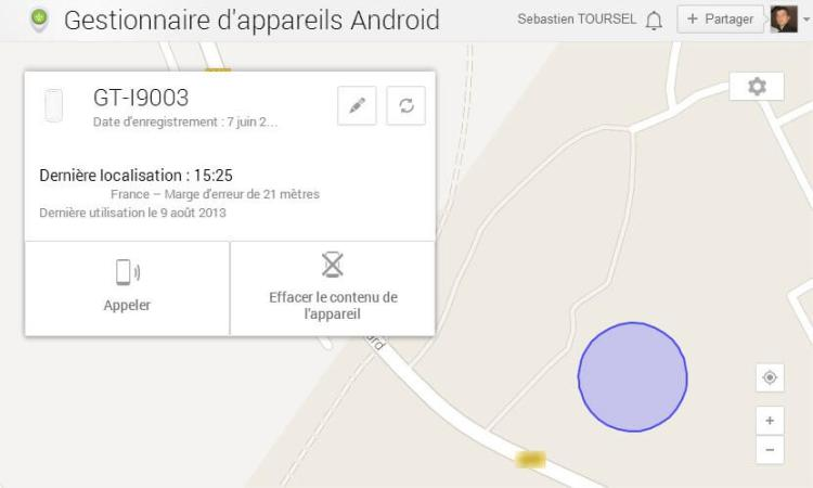 Localiser votre smartphone avec Android Device Manager - Gestionnaire d'appareils Android