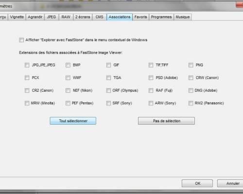 Fichiers RAW - FastStone