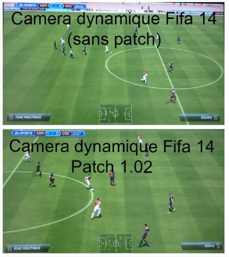 Patch Fifa 14 1.02 Correction camera dynamique