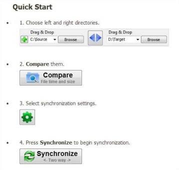 SyncToy ou FreeFileSync pour vos backups - Utilisation