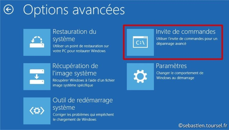 Tentatives de réparation Windows 8.1 CMD