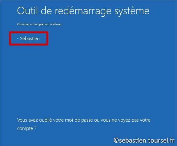 Tentatives de réparation Windows 8.1 Utilisateur