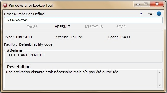 Windows Error Lookup Tool Interface