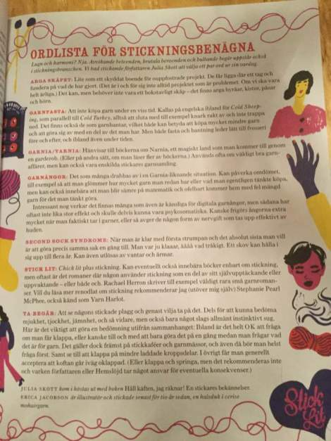 Bild från Hemslöjd. Den kan vara från Julia Skotts bok Håll käften, jag räknar.