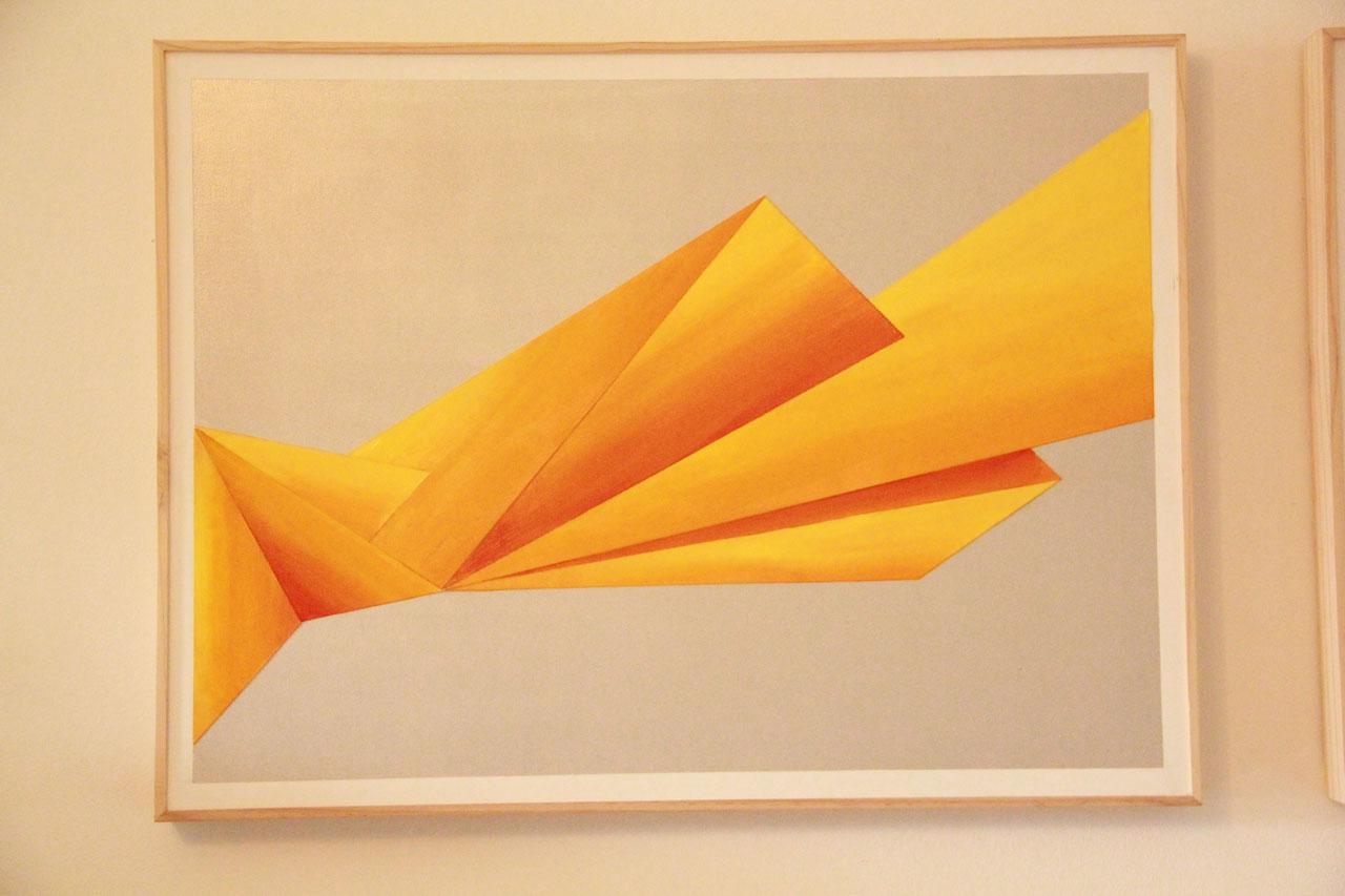3 Triptyque Acrylique Papier - 45 x 60 cm