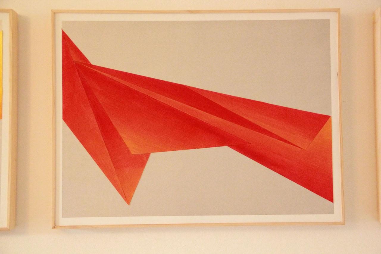 2 Triptyque Acrylique Papier - 45 x 60 cm