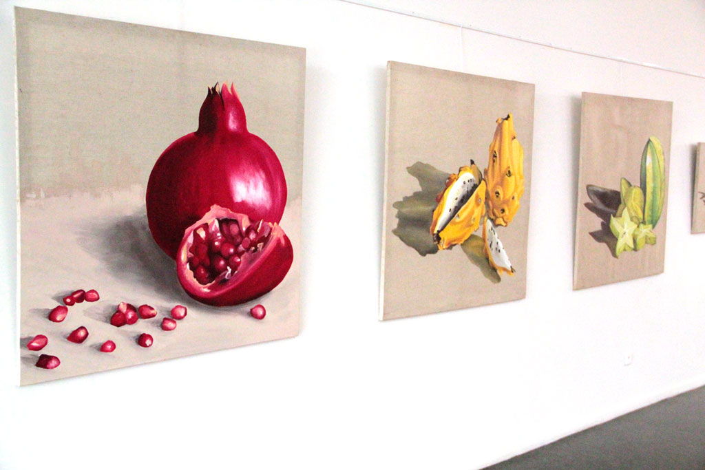 Grenade - Fruit du Dragon - Carambole - 130 x 130 cm