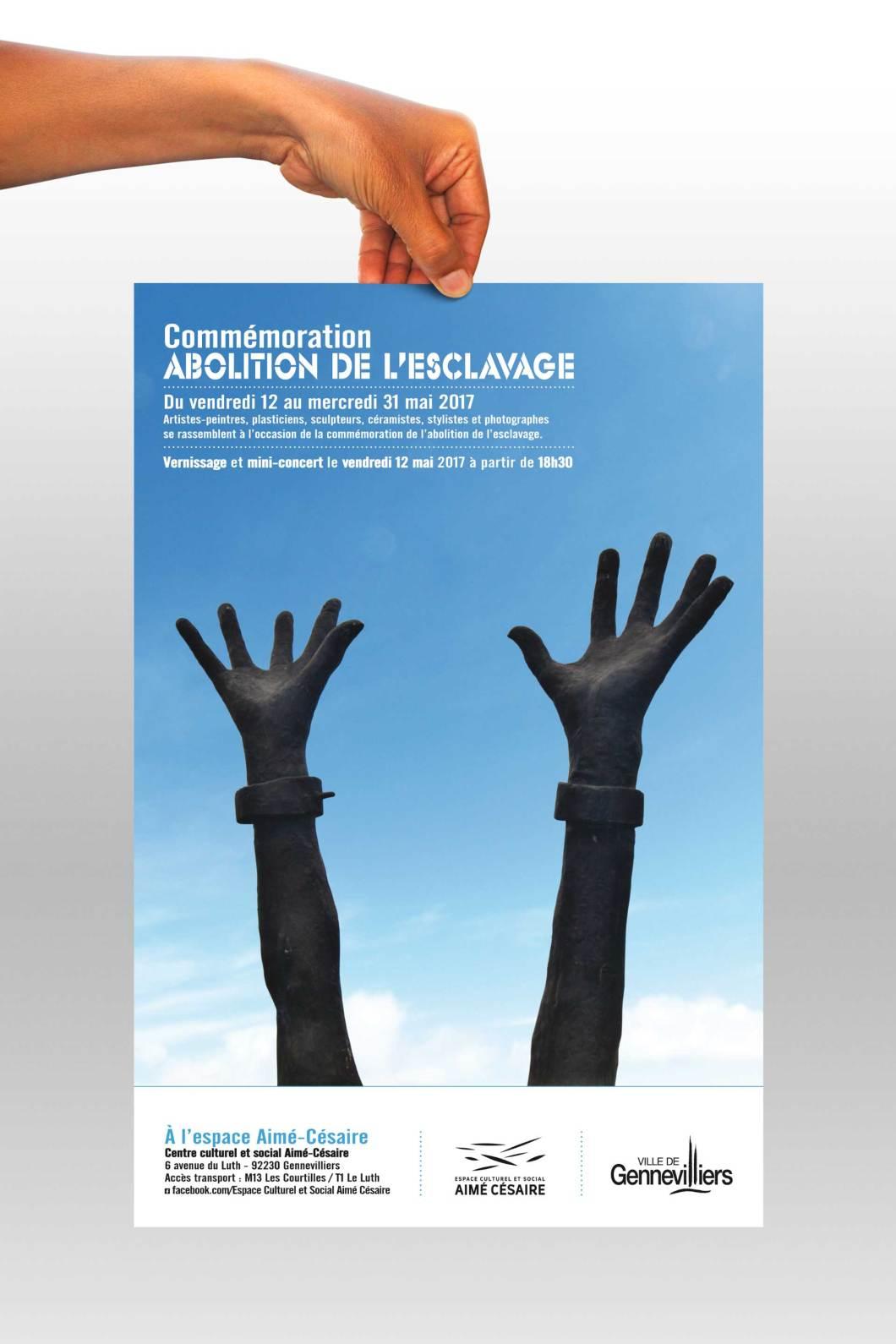 Affiche Commémoration d'abolition de l'esclavage