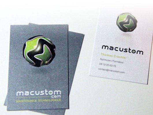 Cartes de visites Macustom imprimés sur papier Curious Metallique