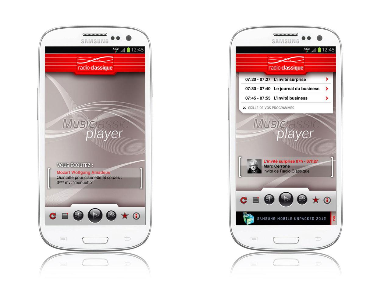 Application Radio classique version Smartphone