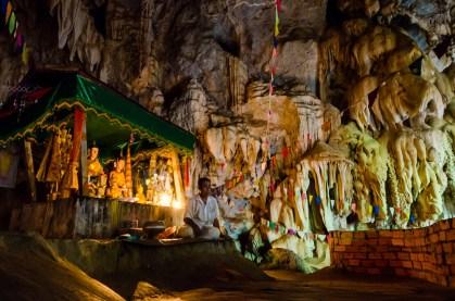 Exploring caves around Thakhek.