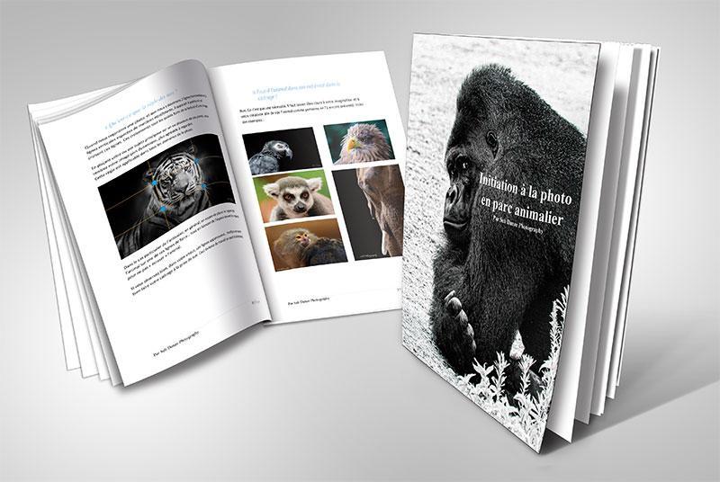 """Illustration de l'ebook au format pdf """"Initiation à la photographie animalière en par animalier"""""""
