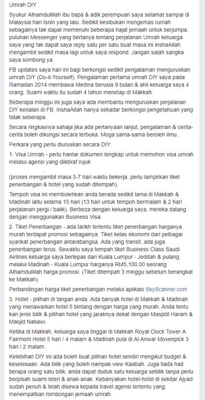 Ibadah umrah diy merupakan kesalahan di bawah undang undang arab kementerian pelancongan dan kebudayaan malaysia motac memperjelaskan laporan bahawa pelaksanakan ibadah umrah secara persendirian atau do it yourself solutioingenieria Choice Image