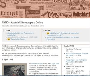 ANNO - AustriaN Newspapers Online