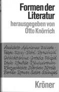01-Formen der Literatur in Einzeldarstellungen