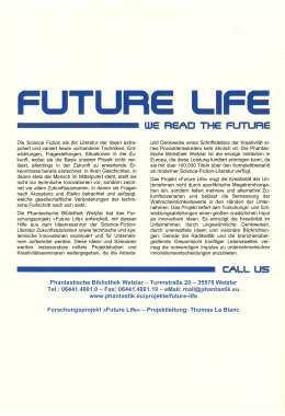 Zukunftsideen der Science Fiction Literatur … – Rückencover