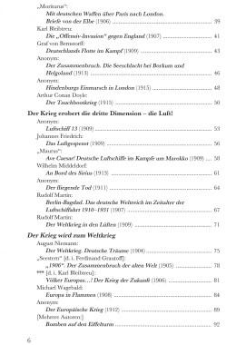 Zukunftskriege in der Science Fiction – Inhaltsverzeichnis Seite 2